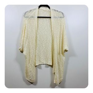 Sun & Shadow | Open Front Knit Cardigan Shawl |E10